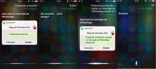Cómo revisar y editar un mensaje de WhatsApp con Siri