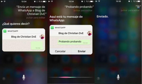 Cómo escribir y enviar un chat de WhatsApp usando Siri