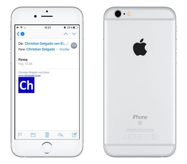 Cómo poner una firma HTML en el iPhone/iPad