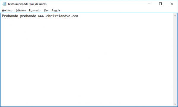 Abriendo con el bloc de notas el flujo de datos alternativo en Windows