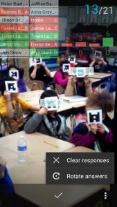 Captando respuestas de los alumnos con Plinkers