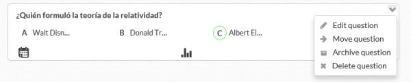 Editar, modificar, mover, archivar o borrar una pregunta en Plickers