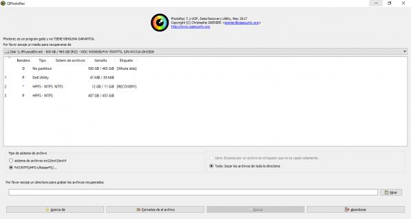 PhotoRec para Windows