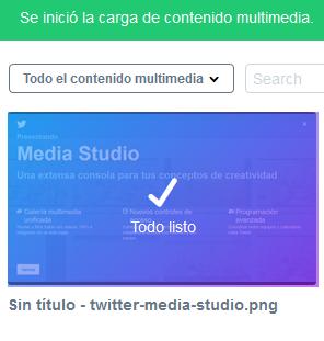 Contenido mltimedia cargado en Twitter Media Studio