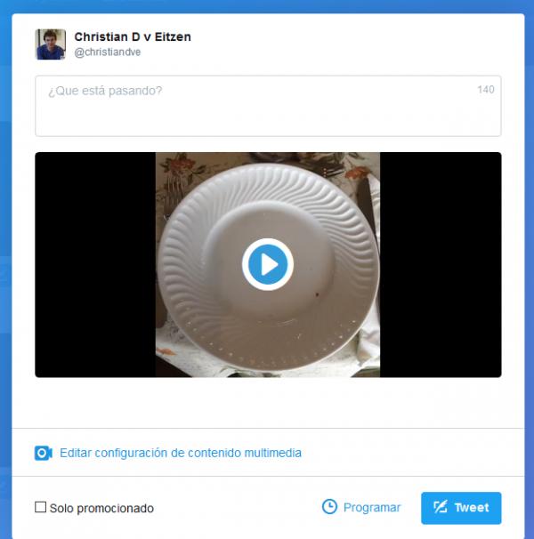 Editar la configuración del vídeo