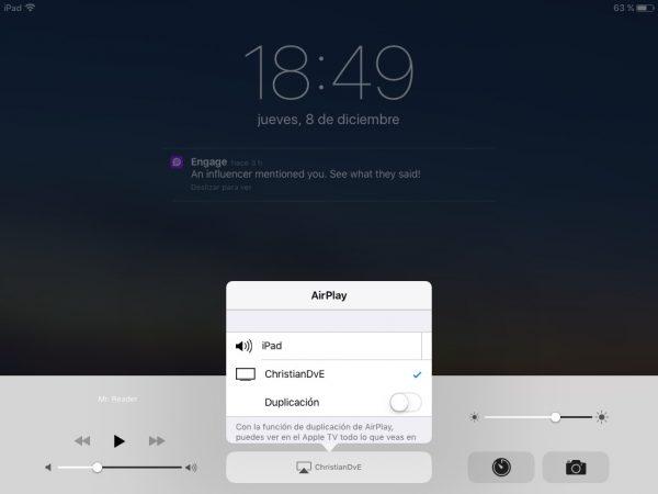 AirPlay en el iPad 2 para grabar la pantalla con LonelyScreen