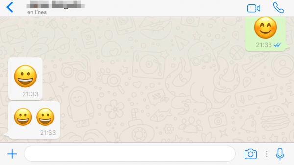 Enviar un emoji o emoticono que se vea mucho más grande
