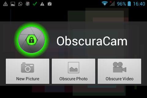 ObscuraCam para pixelar vídeos en Android