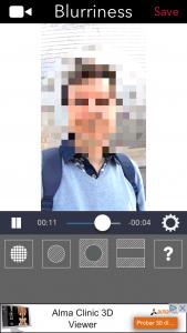 Cambiar el tamaño del punto (Blurriness) de la parte pixelada o difuminada por las zonas del vídeo con MovStash