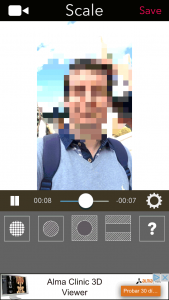Cambiar el tamaño (Scale) de la parte pixelada o difuminada por las zonas del vídeo con MovStash