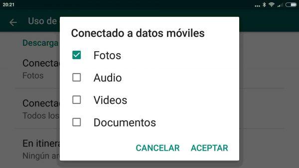 Cómo ahorrar batería y datos móviles en WhatsApp para Android
