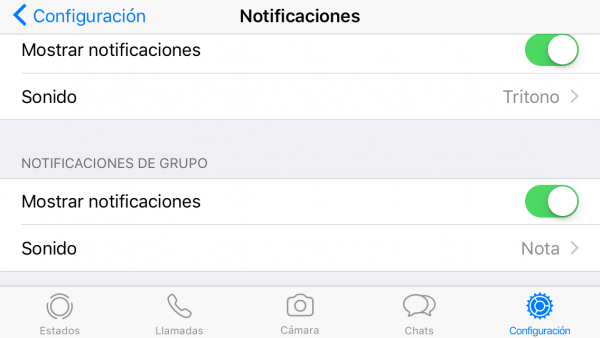 Cómo personalizar las notificaciones de WhatsApp en iPhone