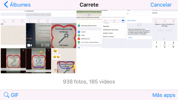 Enviar GIF en iPhone
