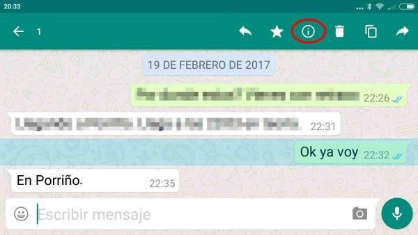 Cómo ver quién ha leído el mensaje de WhatsApp en un chat o en un grupo en Android