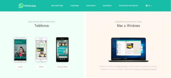 WhatsApp para Mac y Windows, además de WhatsApp web