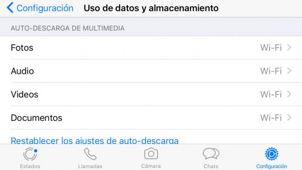 Cómo ahorrar batería y datos móviles en WhatsApp en iPhone