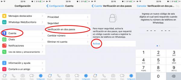 Cómo activar la verificación en dos pasos de WhatsApp en iPhone