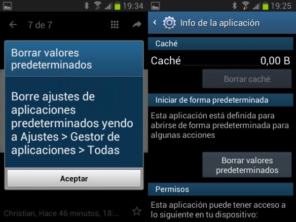Borrar la aplicación predeterminada para abrir vídeos en Android