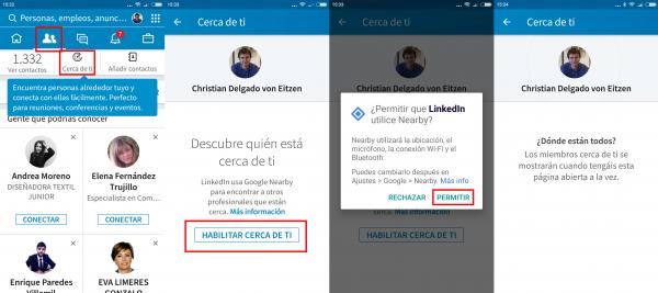 Cómo activar LinkedIn Cerca de ti en Android