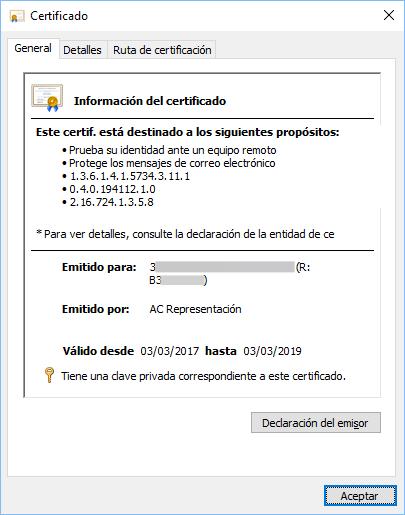 Certificado AC de representante para firma digital y más funciones