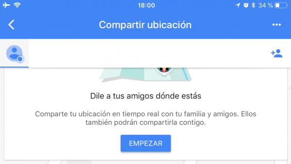 Google Maps permite compartir la ubicación en tiempo real