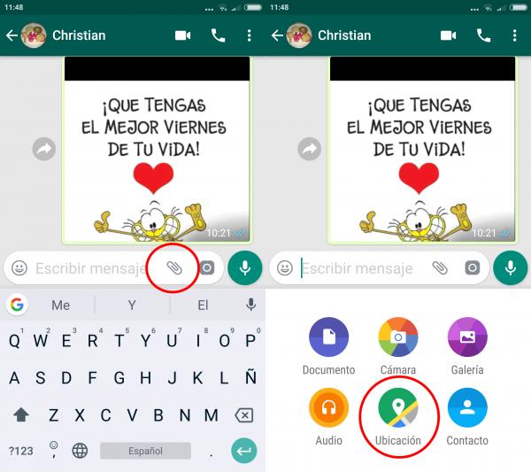 Cómo compartir la ubicación en tiempo real en WhatsApp en Android
