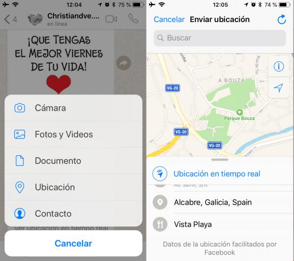 Cómo compartir la ubicación en tiempo real en WhatsApp en iPhone