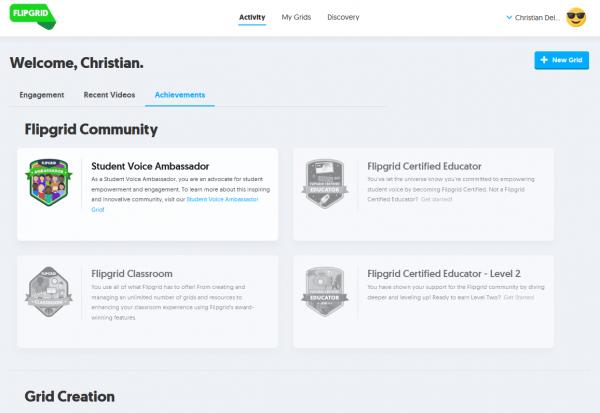 Achievements (logros) en FlipGrid
