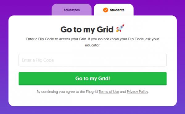 Cómo darse de alta gratis en FlipGrid como alumno/estudiante o participante