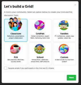 Crear un grid en FlipGrid