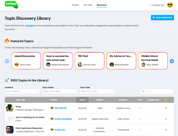 FlipGrid: Discovery