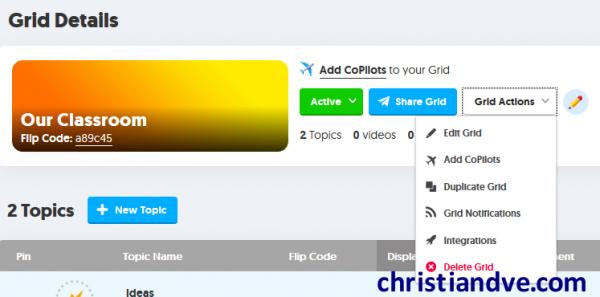 """Operaciones con el """"grid"""" en FlipGrid"""