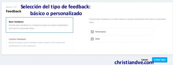 """Cómo crear un """"topic"""" en FlipGrid y opciones - Feedback (rúbricas)"""