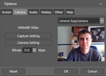 Opciones de Expression Encoder: Camera