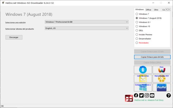 Cómo descargar ISOs oficiales de Windows (opción 2)