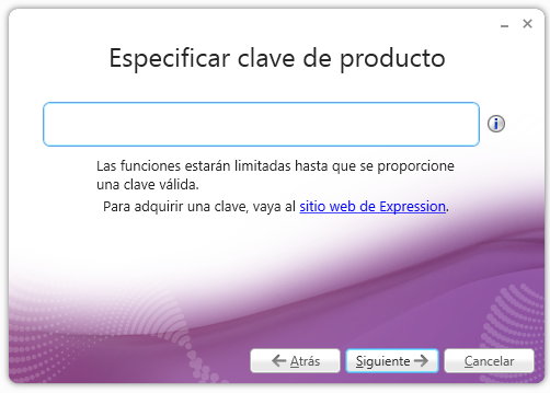 Especificar clave - Expression Encoder