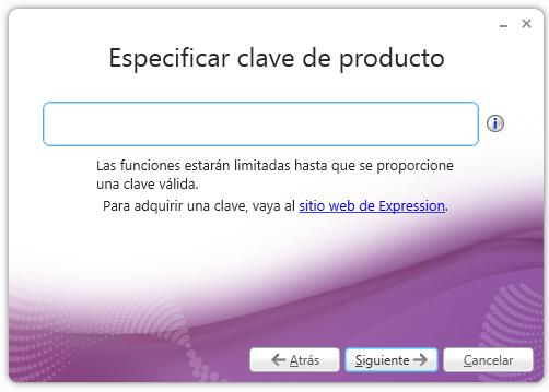 Especificar clave - Expression Encoder