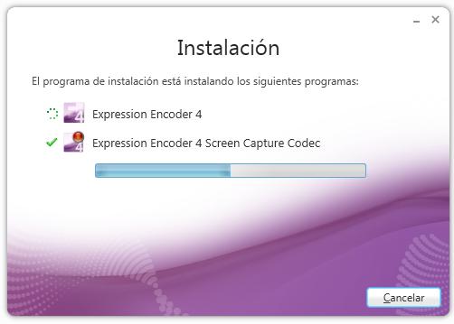 Instalando Microsoft Expression Encoder Screen Capture