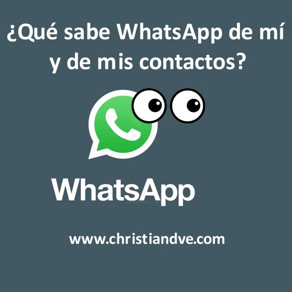 WhatsApp: cómo descargar tus datos ¿qué sabe de mí y de mis contactos?