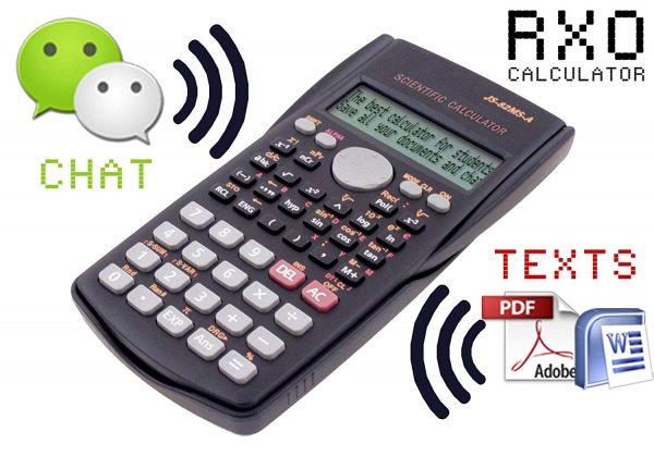 Calculadora RXO para guardar chuletas e intercambiar mensajes