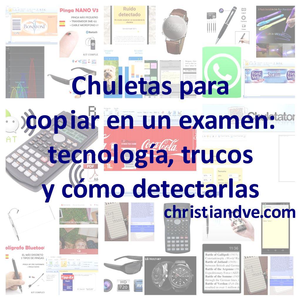 d0da3908d0b Chuletas para copiar en un examen: tecnología, trucos y cómo detectarlas