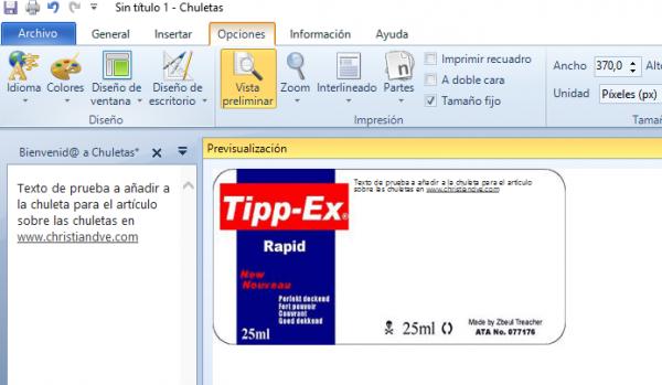 Chuletas para Windows - Chuletas y Cibr - Plantilla Tipp-Ex