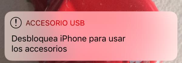 Desbloquea iPhone para usar los accesorios