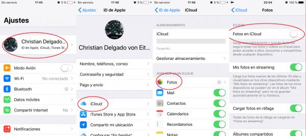 Desactivar fotos y vídeos en iCloud para poder borrarlos del iPhone, iPad o iPod touch