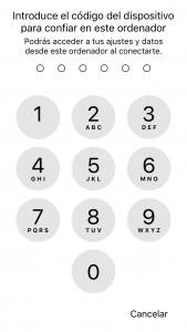 Introduce el código del dispositivo