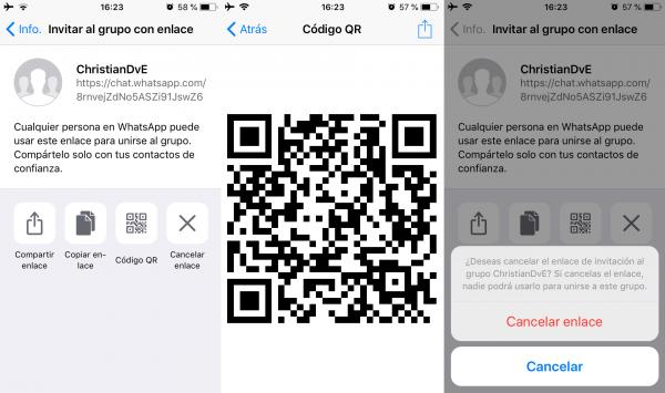 Cómo crear un enlace para invitar a personas a un grupo de WhatsApp en iPhone