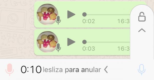 Envía mensajes de audio por WhatsApp sin dejar el dedo pulsado sobre el micrófono en iPhone