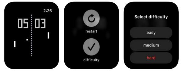 Pong, un juego para el Apple Watch