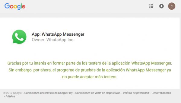 Cómo darse de alta como beta tester de WhatsApp para Android