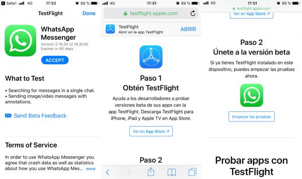 Cómo darse de alta como beta tester de WhatsApp para iPhone